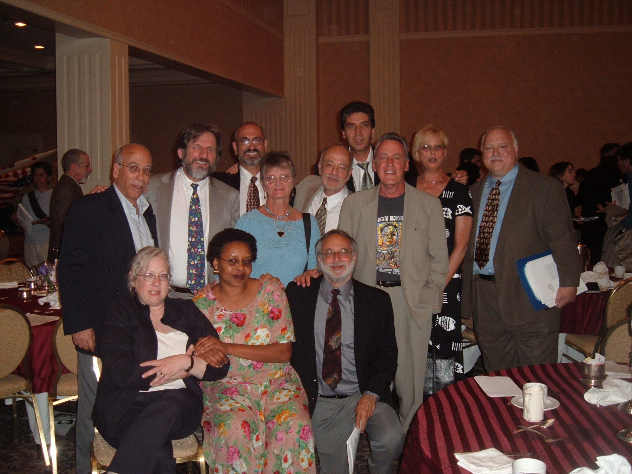 Some of the defendants with legal team in a NLG event